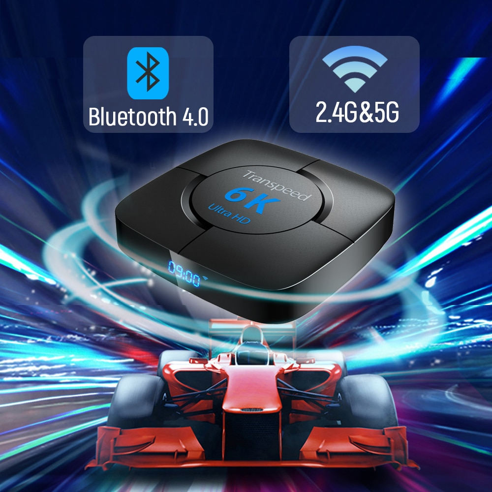 Transpeed Media player Android 10 Voice Assistant [ 4GB RAM 64G ROM ] TV Box