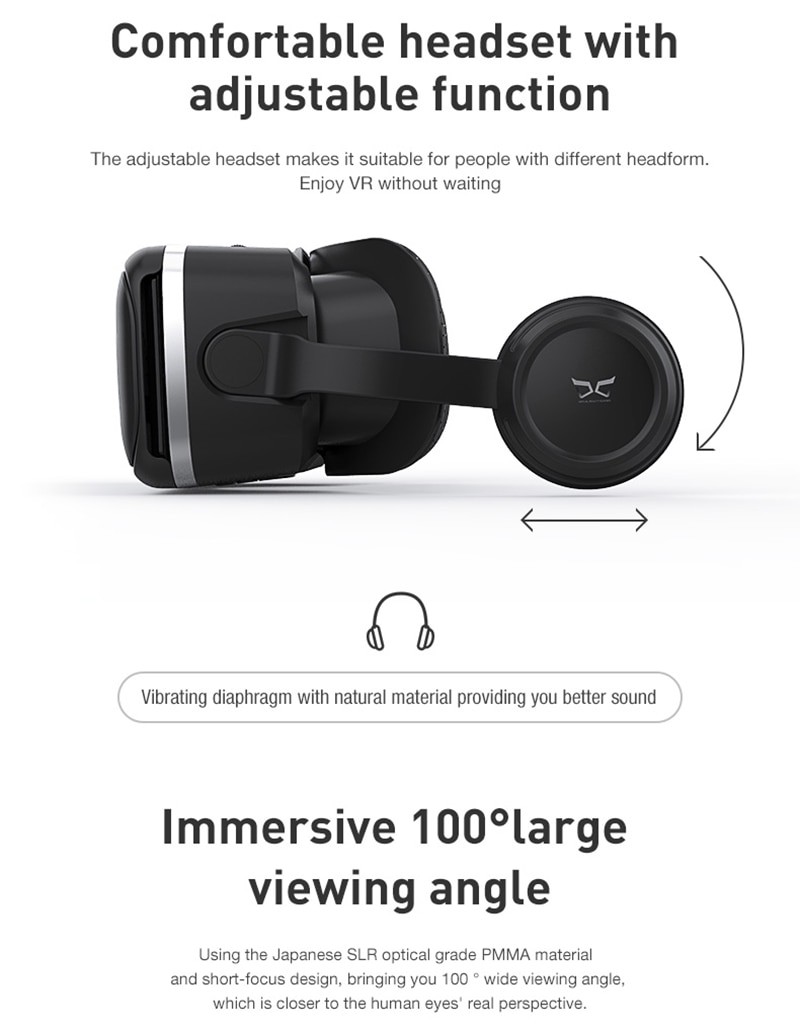 3D Virtual Reality Goggles Glasses Headset