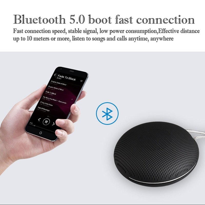 ABS Portable Wireless Mini Speaker Waterproof Outdoor with Mic