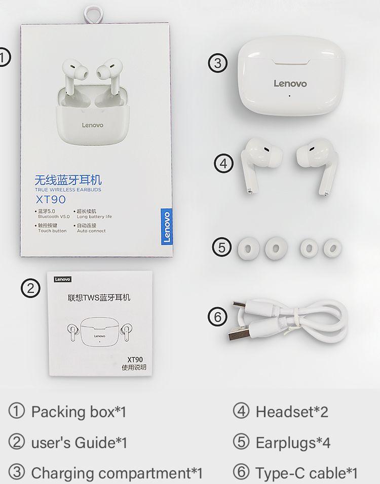 Lenovo LP1 S TWS Smart Touch Wireless Earphones