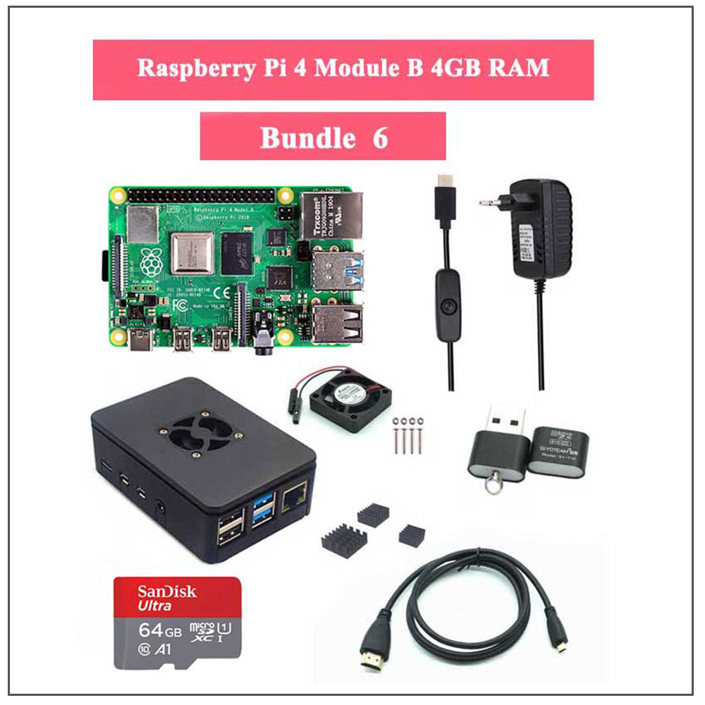 Raspberry Pi 4 Model B 2/4GB RAM With Full Package AIO