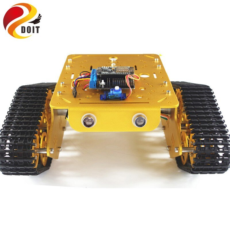 DOIT T300 RC Robot Tank Car Chassis Controlled by Android/iOS Phone based on Nodemcu ESP8266 Board+Motor Drive Shield DIY