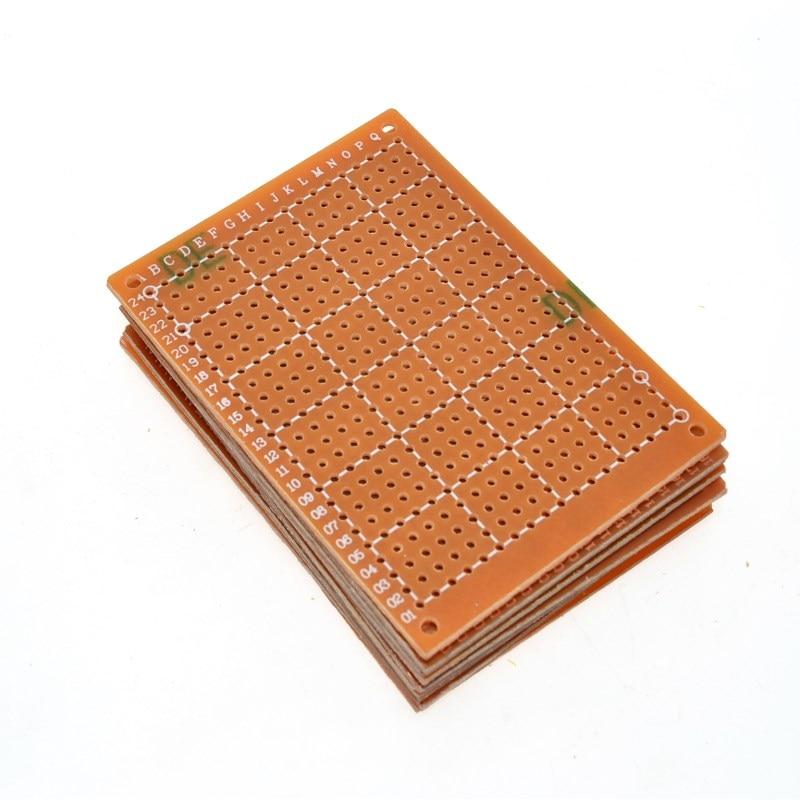 10Pcs Golden 5x7cm PCB DIY Prototype Universal Board