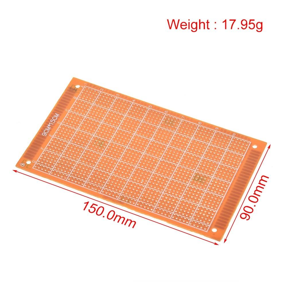 5pcs 9x15 cm Single Side Golden Prototype Universal Experimental PCB Board