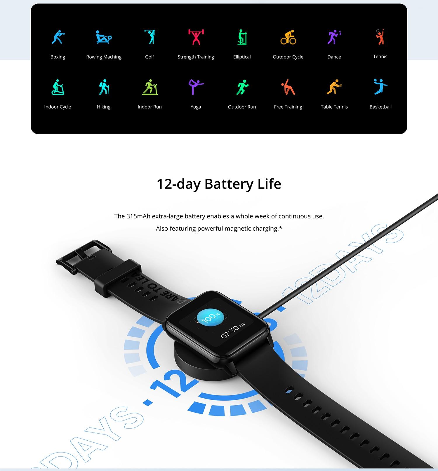 Realme Watch 2 Waterproof Smart Watch 12-day Battery Life