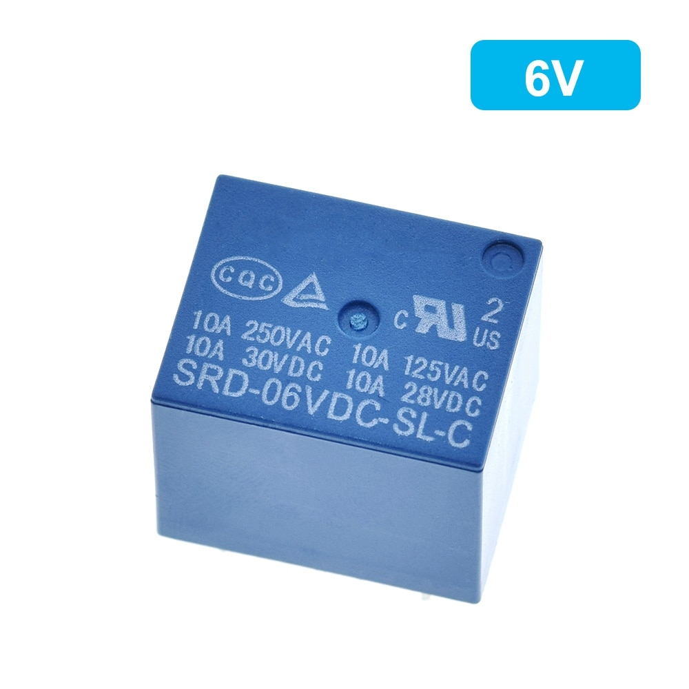 Relay SRD-03 to 48VDC-SL-C from 3V to 48V 10A 250VAC 5PIN