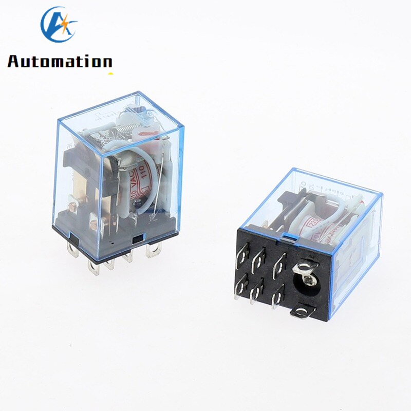 Electronic Micro Electromagnetic Relay LY2NJ HH62P LED Lamp 10A 8 Pins Coil