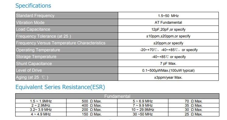 10 pcs 7.2MHZ Genuine HC-49U-line passive quartz crystal oscillator