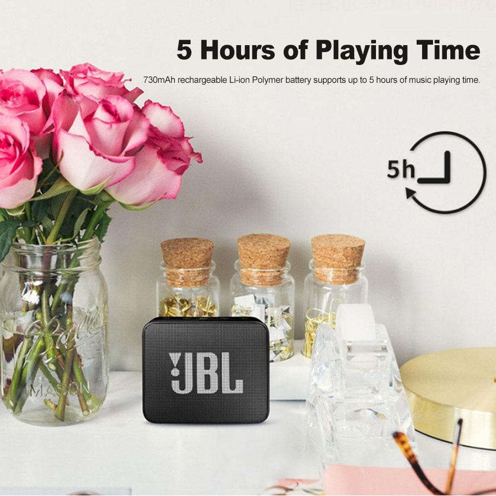 JBL GO 2 Mini IPX7 Waterproof Bluetooth Speaker With Microphone