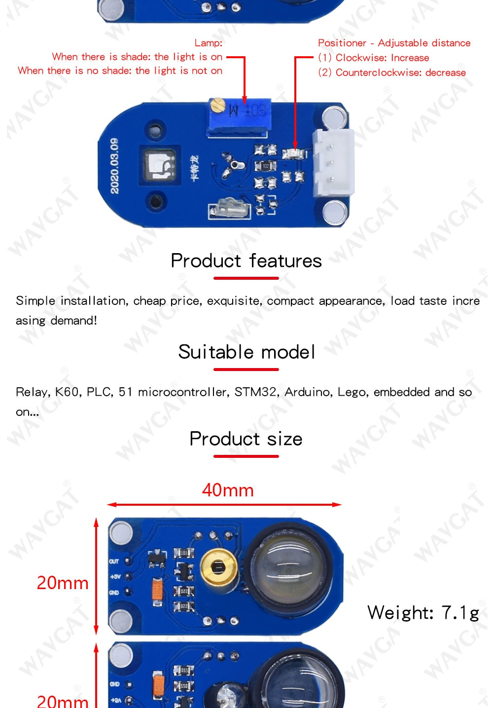 Obstacle reflection and recognition laser & IR sensor tracking module