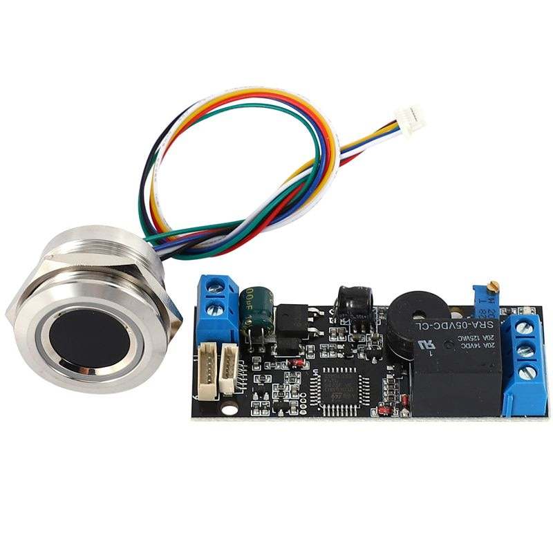 K202 Fingerprint Control Board DC12V With R503 Round Fingerprint Recognition Module