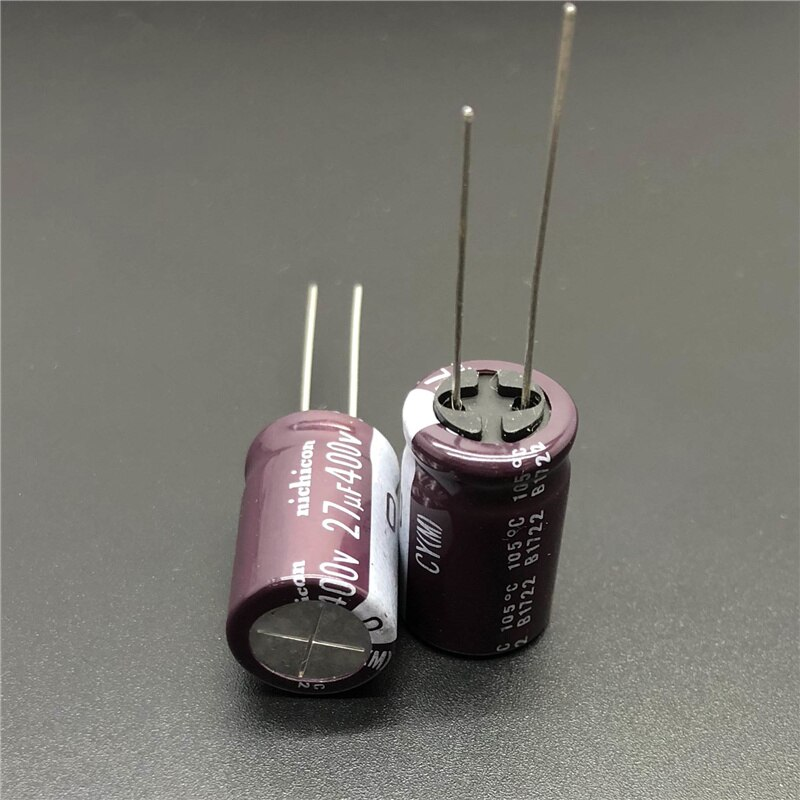 High Ripple Current Long Life 400V 27uF Aluminum Electrolytic Capacitor
