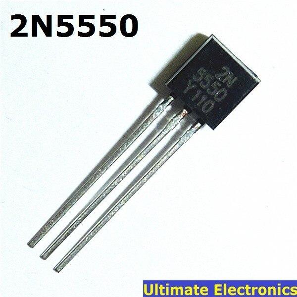 100pcs 2N5550 TO-92 NPN General Purpose Transistor