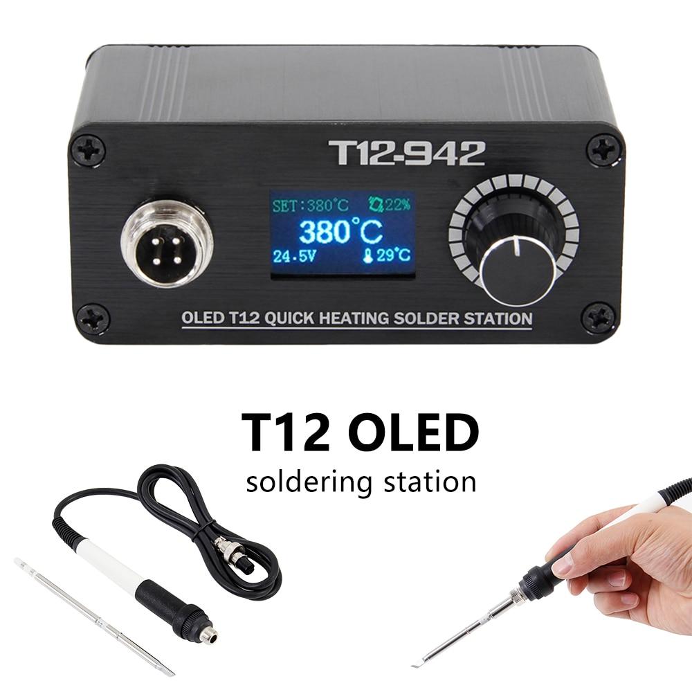 MINI T12 OLED Soldering Station Electronics Welding Iron