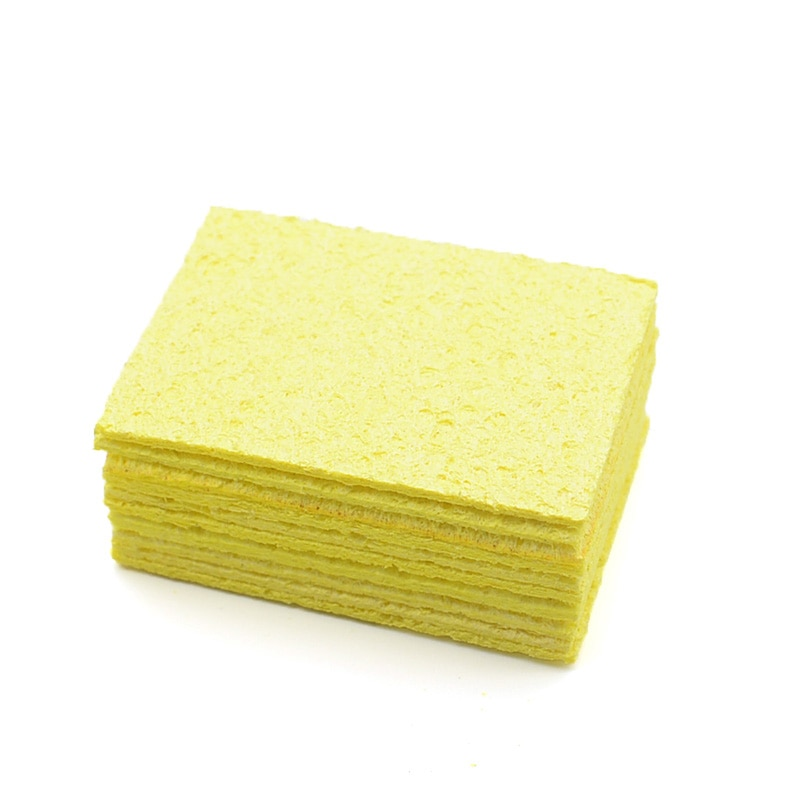 Yellow Cleaning Sponge for Enduring Electric Welding Soldering Iron
