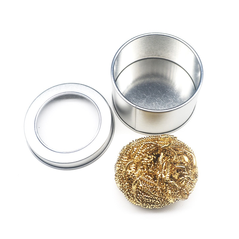 Soldering Iron Mesh Filter Cleaning Copper Wire Cleaner Ball