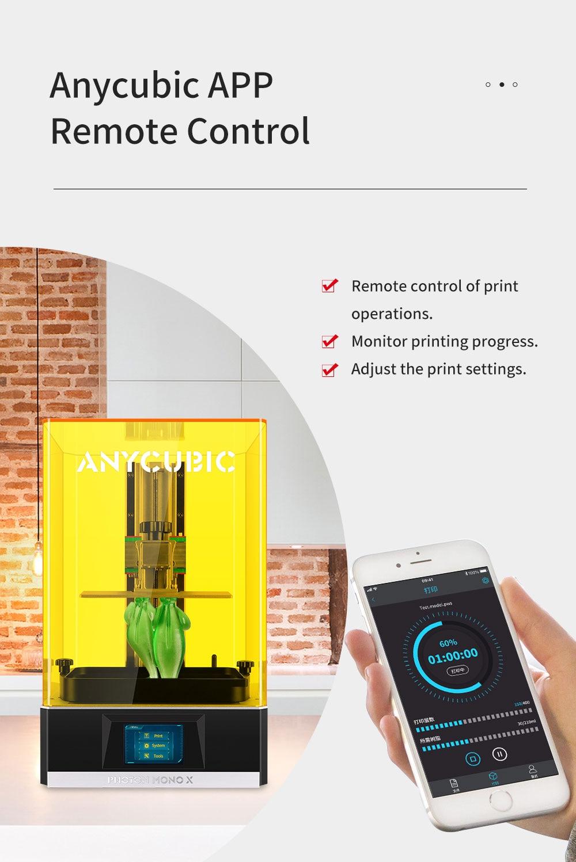 ANYCUBIC Photon Mono X 3d Printe 192x120x245mm