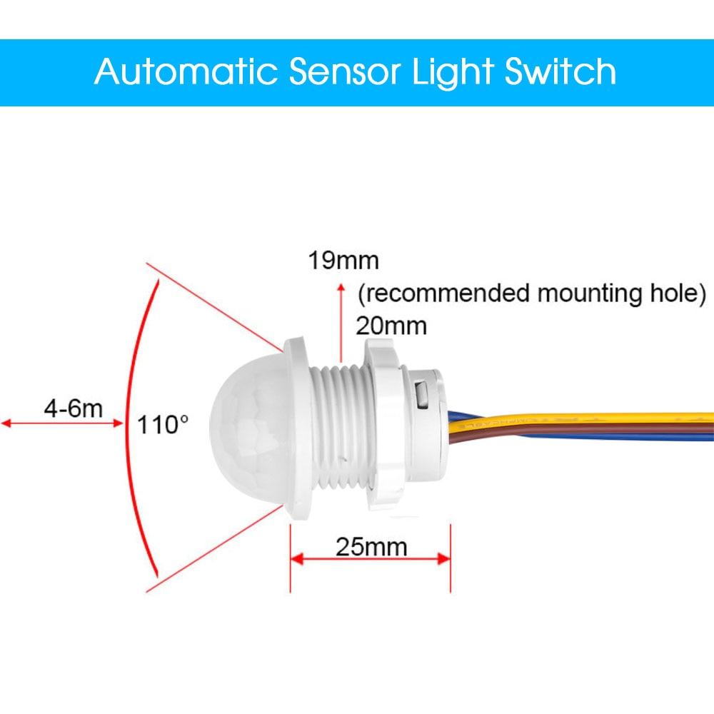 PIR Infrared Motion Sensor Smart Switch Auto On Off Light