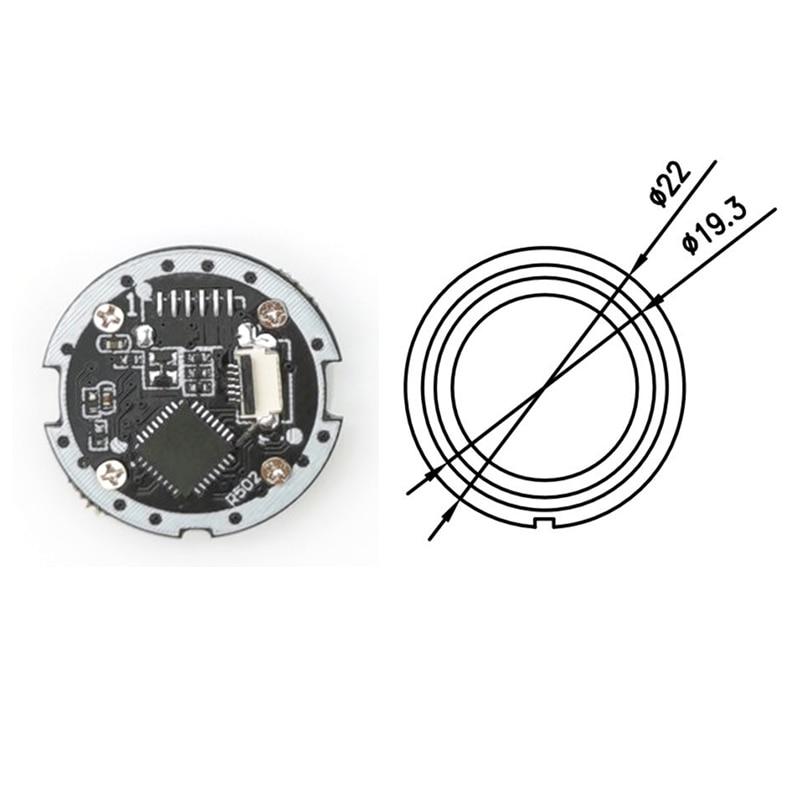 R502-B Round Semiconductor LED Capacitive Fingerprint Module