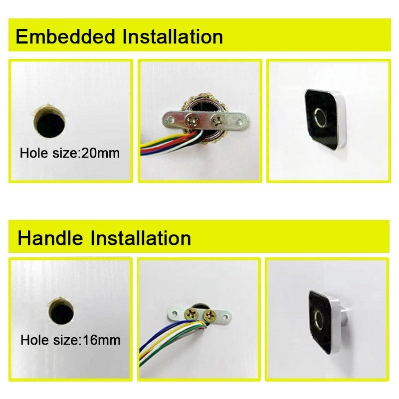 R502-AW Zinc Alloy Round Semiconductor LED Capacitive Fingerprint Sensor Scanner