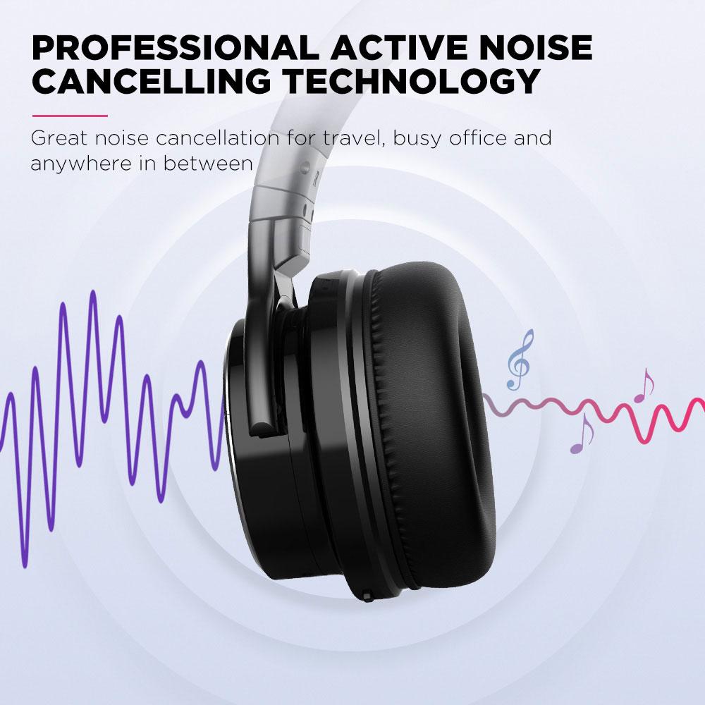 Cowin E7 Pro Noise Cancelling Bluetooth Deep Bass Over Ear Headphones