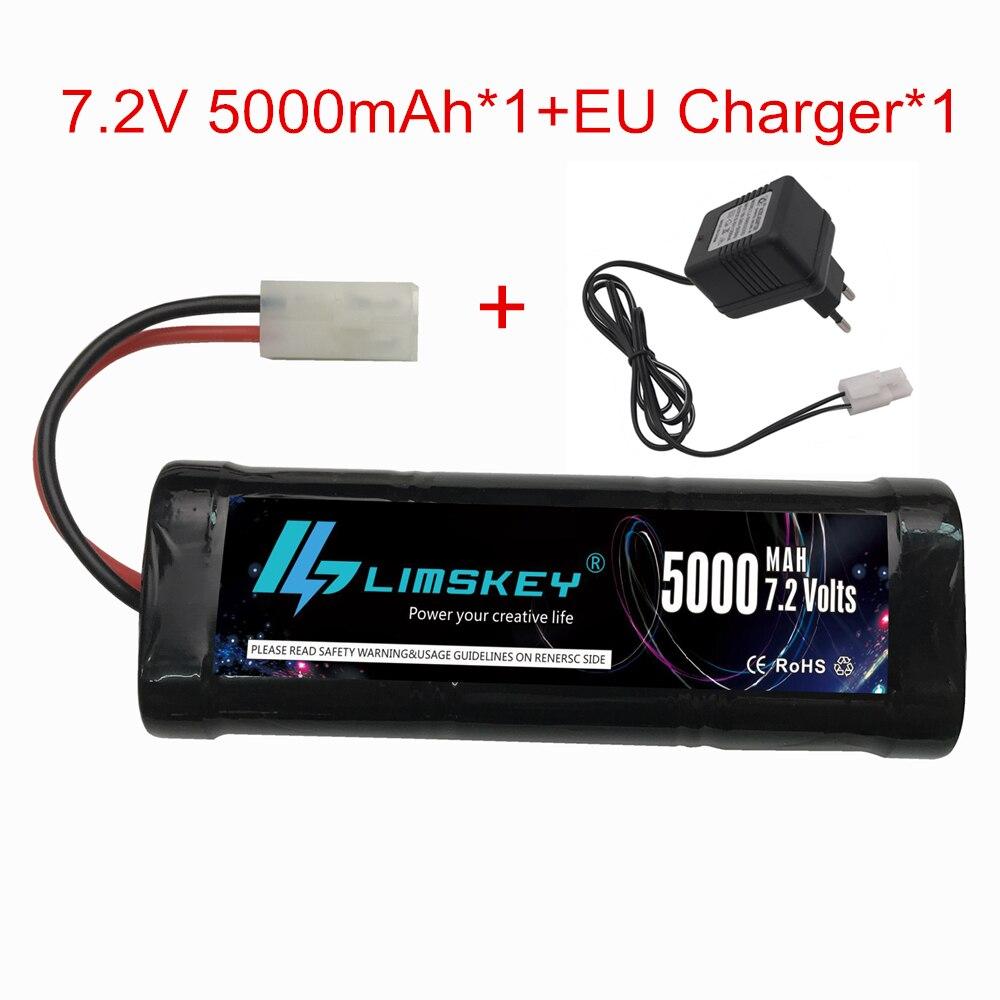 7.2V 5000mah NiMh RC Battery and 7.2v charger With Tamiya Connectors