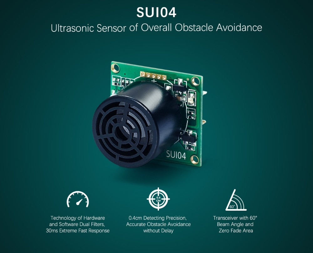 Radiolink Autonomous Obstacle Avoidance SU04 & SUI04 Ultrasonic Sensor