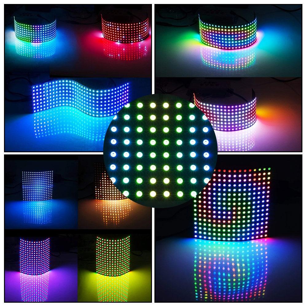WS2812B RGB Flexible 16x16 Pixel Matrix Panel Screen