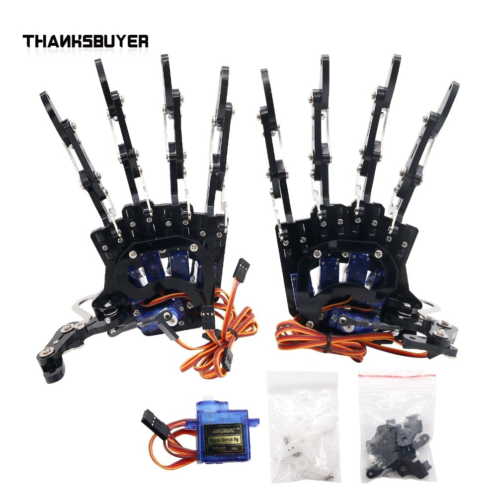 Five Fingers Robot Right & Left Hand Clamper Claw Gripper with Servos