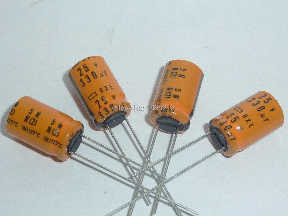 10pcs 330uF 25V Aluminum Electrolytic Capacitors