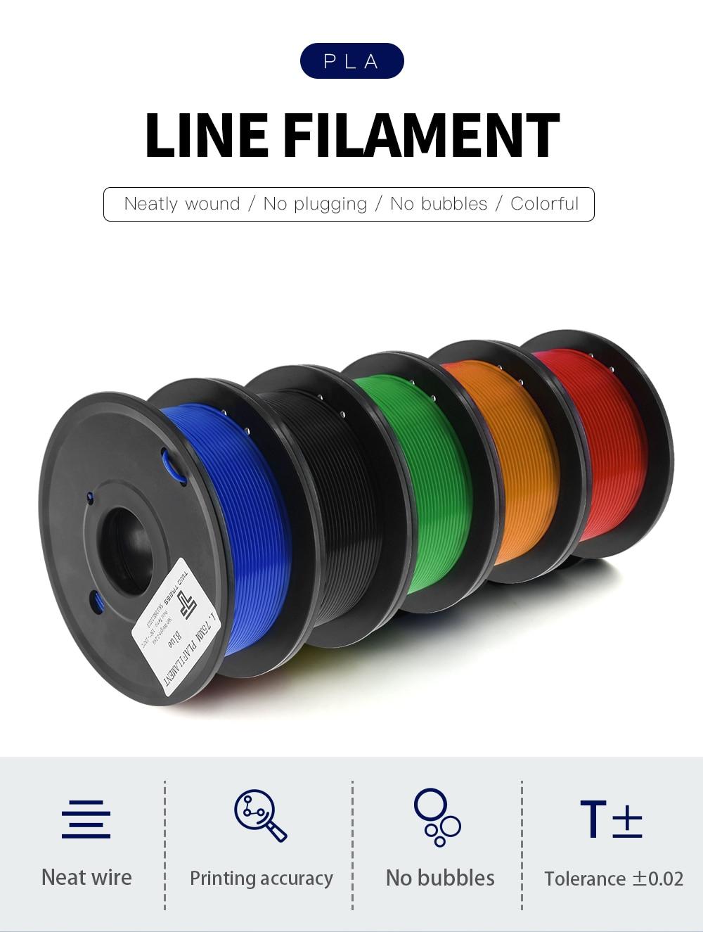 200g 3D Printer 1.75mm PLA Filament
