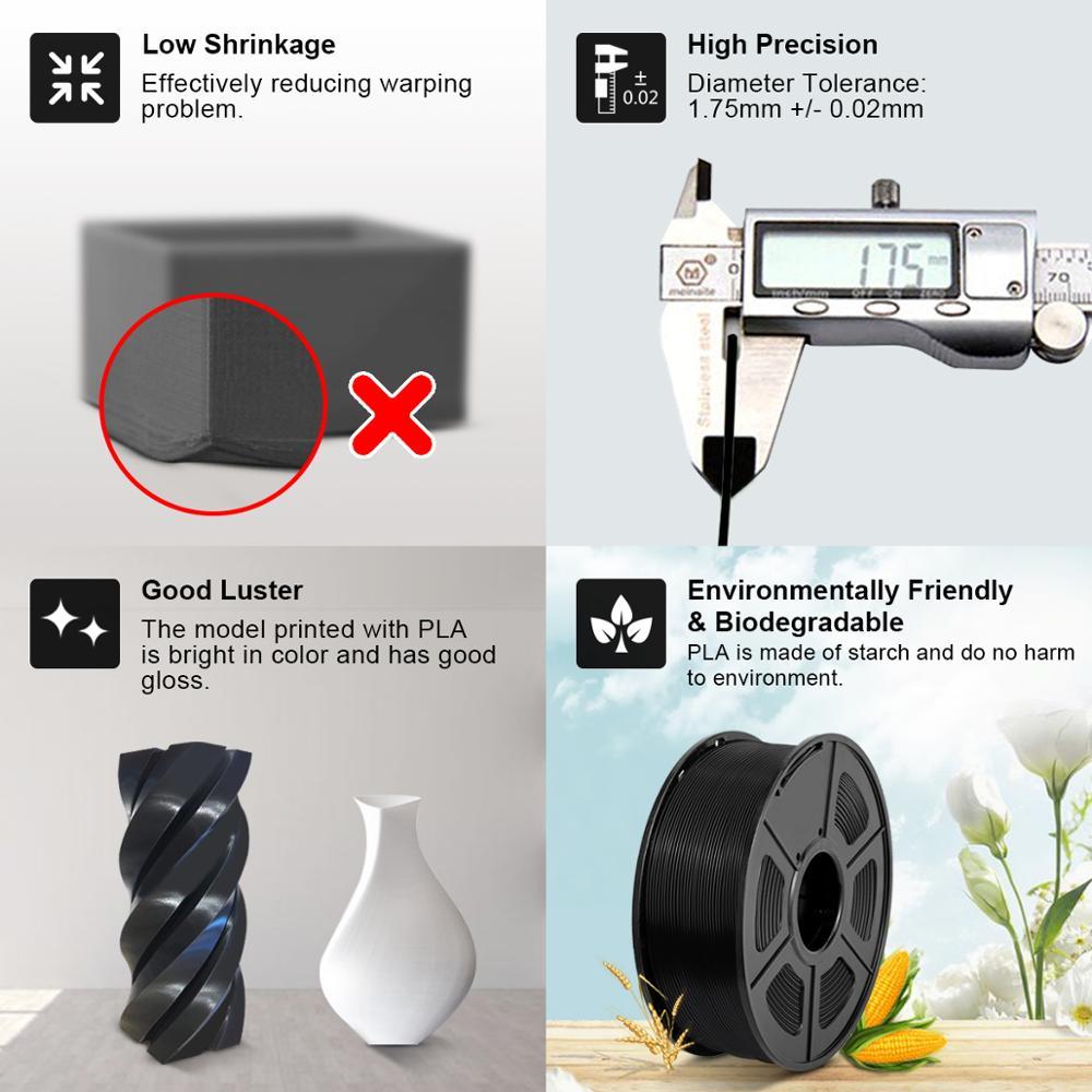 3D Printer 3D Filament 1.75mm 1KG PETG ABS SILK PLA Filament
