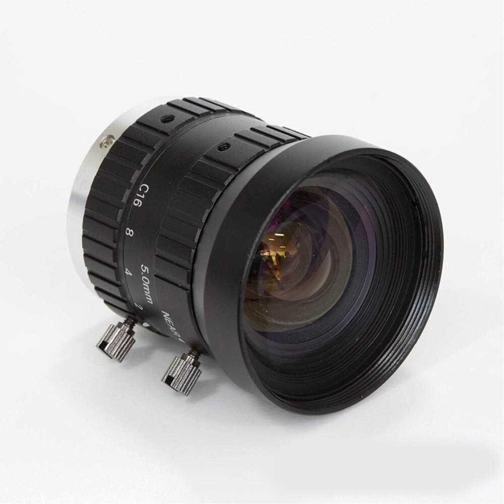 Arducam 5mm Focal C-Mount Lens for Raspberry Pi High Quality Camera with Manual Focus and Adjustable Aperture
