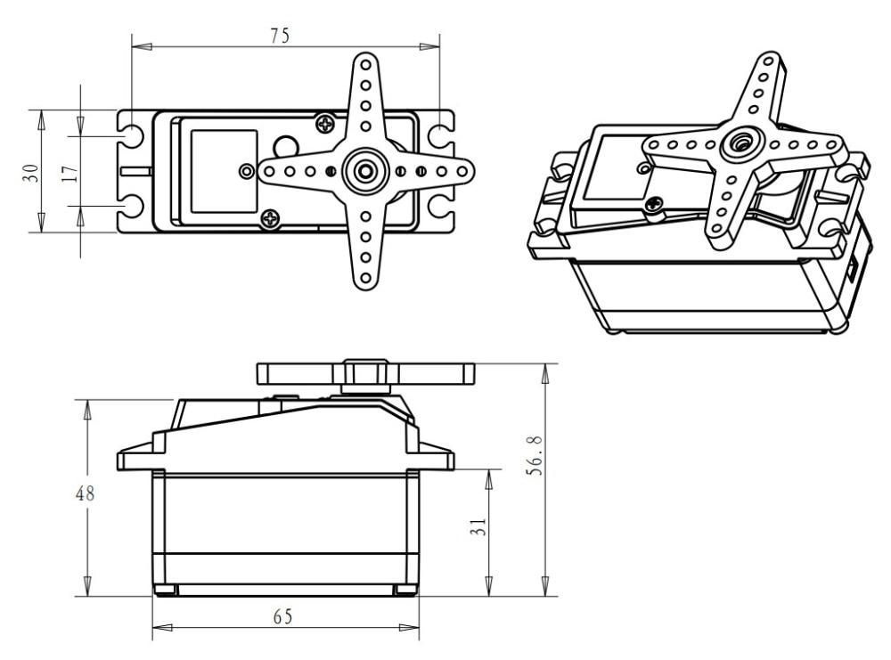 High Torque DS5160 60kg Metal Gear Robot Servo