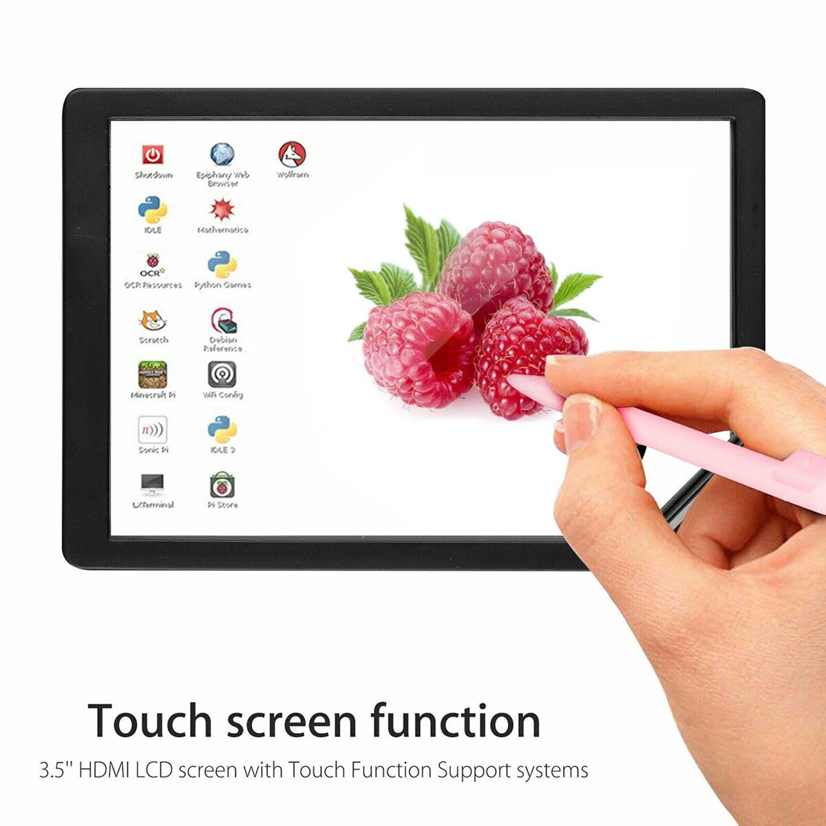 HDMI TFT LCD Touch Display Screen 3.5 inch with Case Touch Pen for Raspberry Pi 4 B