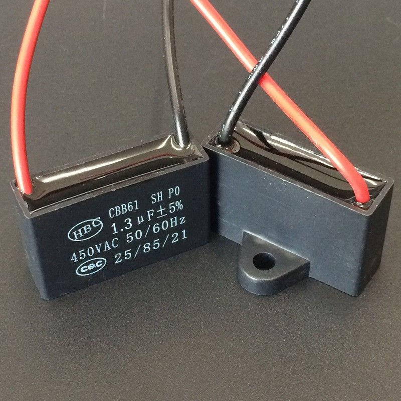 CBB61 450V 1uF to 6uF Terminal Ceiling Rectangle Capacitor