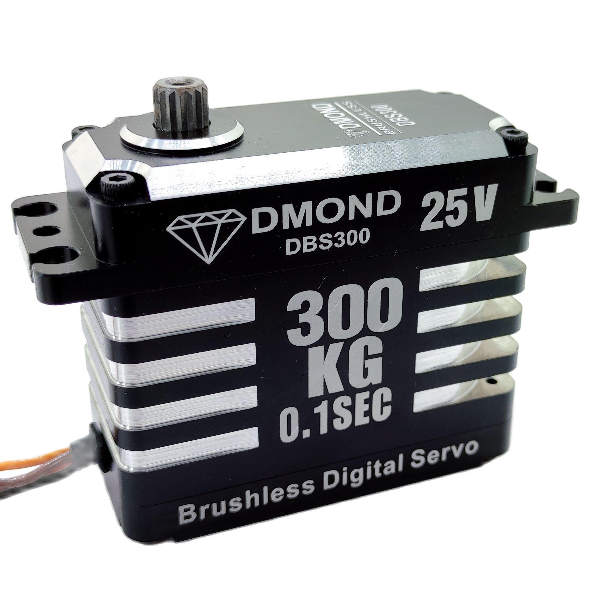 DMOND DBS300 300KG 25V Dual Wires Programmable Brushless Servo