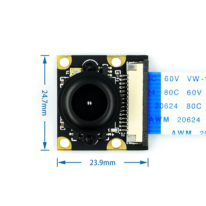 Adjustable 5MP OV5647 Night Vision Camera Module Focal Sensor 1080p with 15cm FPC Cable