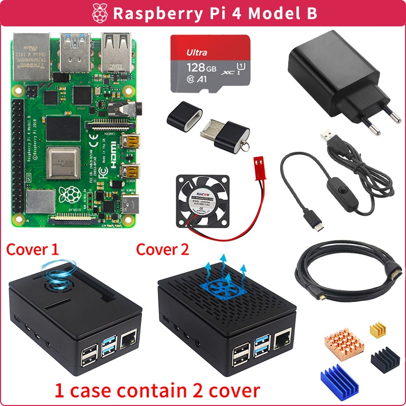 Raspberry Pi 4 Model B Full Package Kit From 2GB To 8GB