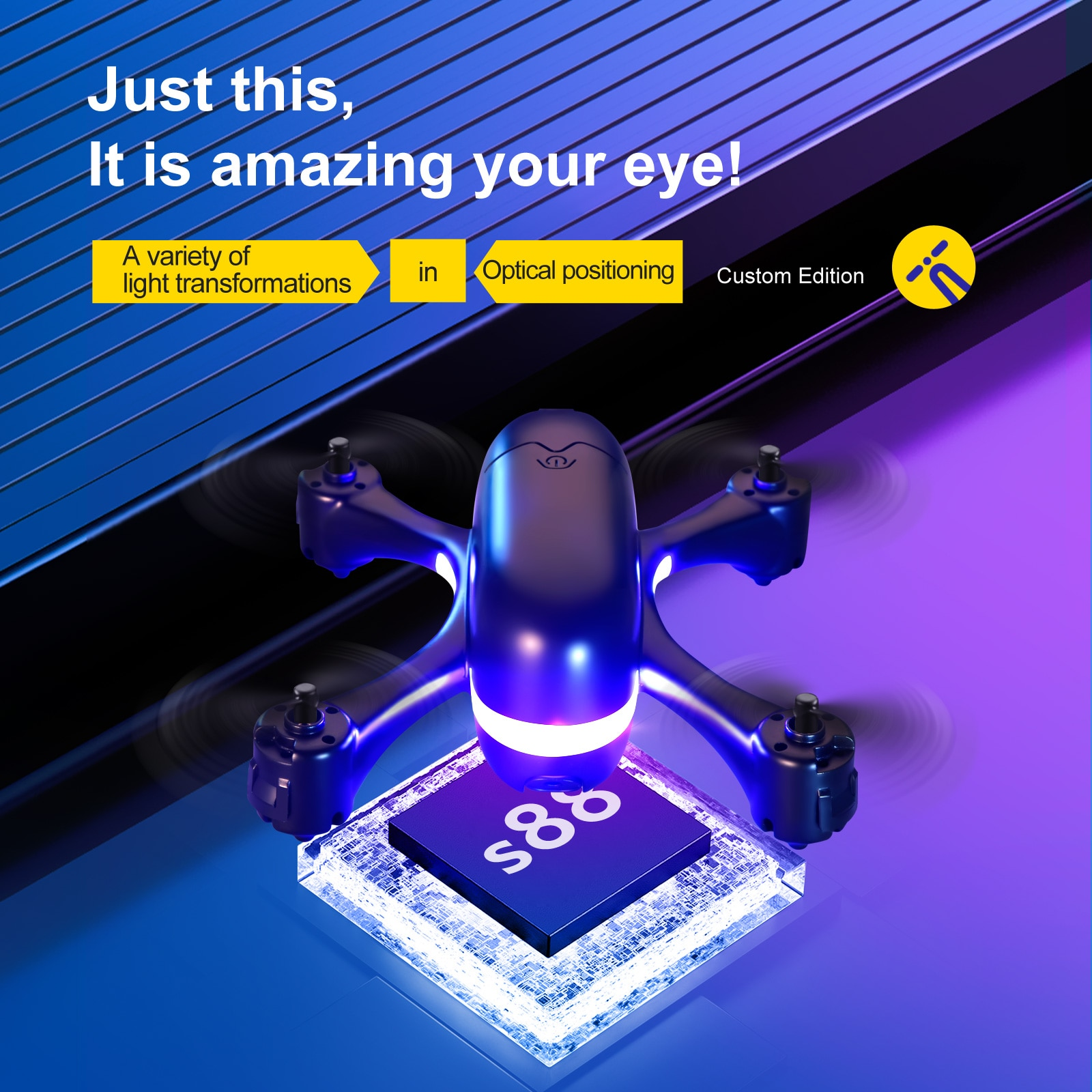 S88 4K HD Dual Camera With FPV Mini Drone Optical Flow Positioning