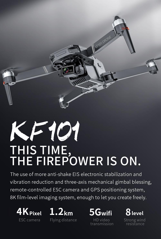 KF101 Professional Anti-Shake RC Foldable Quadcopter Drone