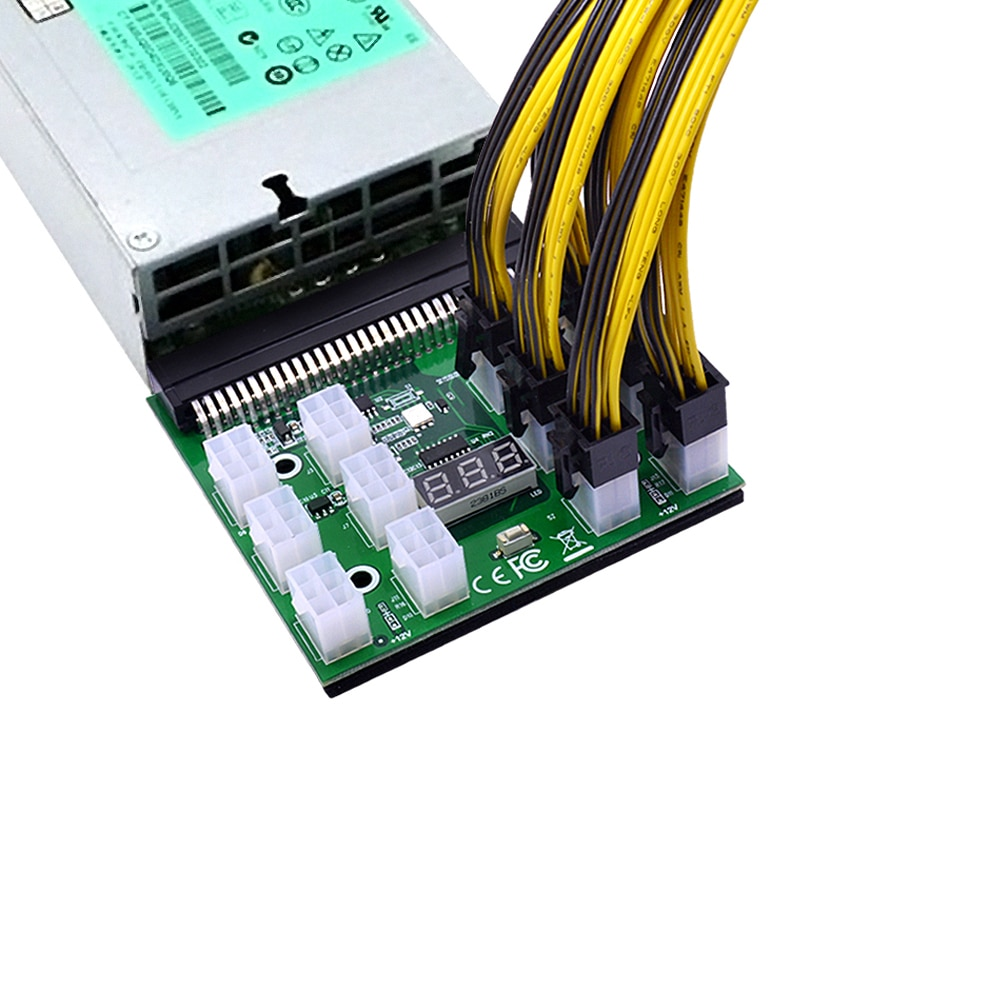 HP 750W 1200W PSU Server Power Conversion Breakout Board with 18AWG Power Cable